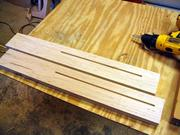 Neck blanks, with truss rod channel routed.